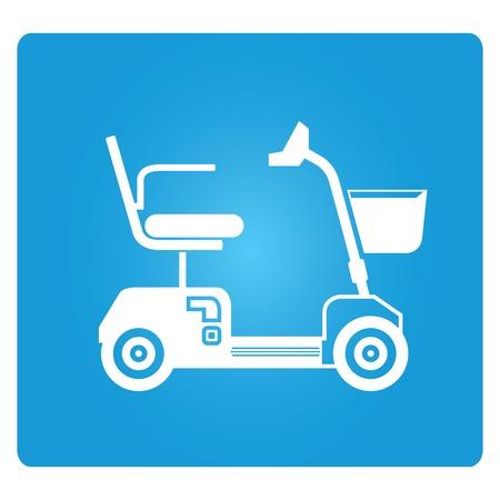 elektrische scooter scootmobiel pictogrammen
