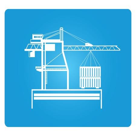 dock: seaport crane and cargo dock