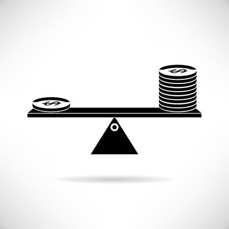 apalancamiento: balanza dinero apalancamiento