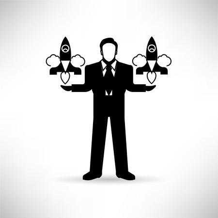 venture: venture capitalist Illustration