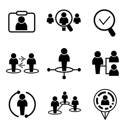 button icons: business management icons people icons