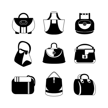 fashion handbag icons Vector