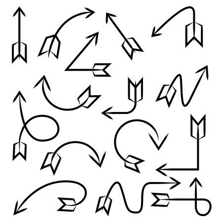 hand drawn arrows bows Vector