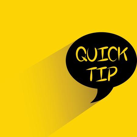 quick tip Illustration
