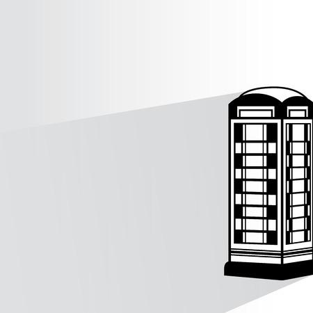 telephone booth: telephone callbox Illustration