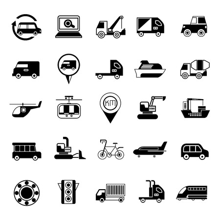 transportation icons: transportation icons Illustration