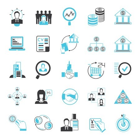 commercial activity: business and financial management icons