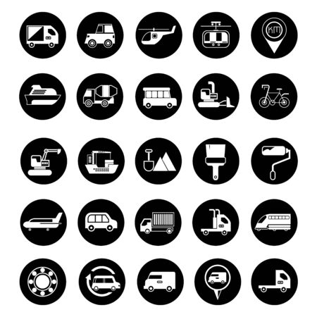 transportation icons cargo service icons Vector