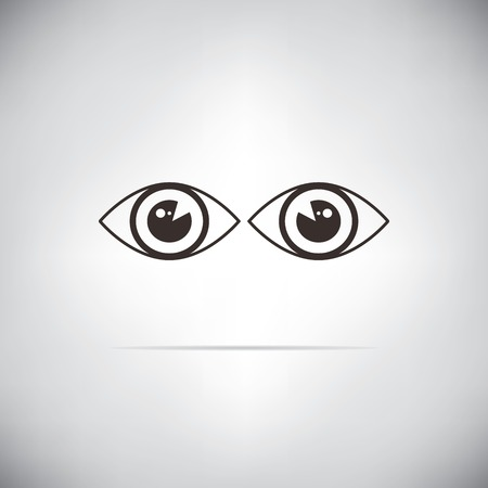 symbol vigilance: eyes watcher Illustration