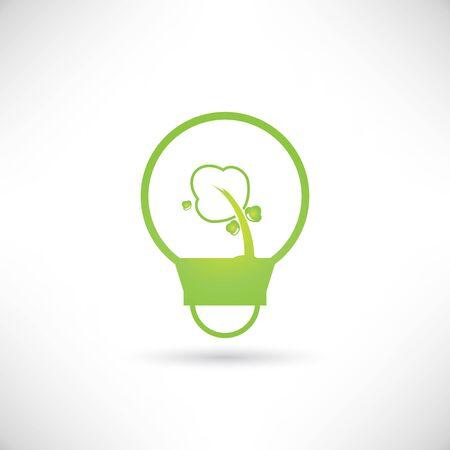 go inside: go green concept Illustration