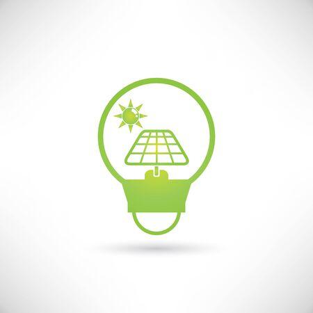 energy buttons: solar energy Illustration