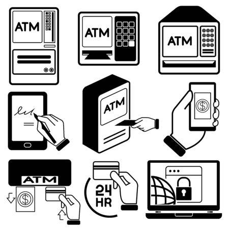 money machine icons Vector