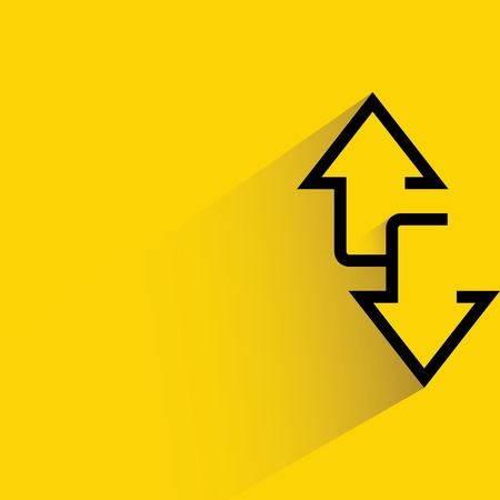 arrows up and down ways Vector