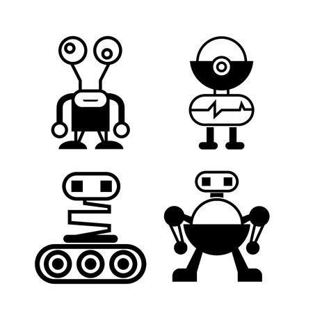 cute robot: cute robot icons