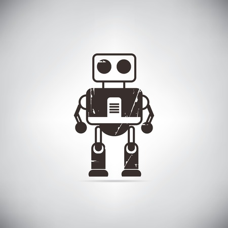 space robot: retro robot cute robot