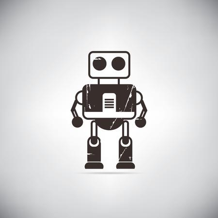 cute robot: retro robot cute robot