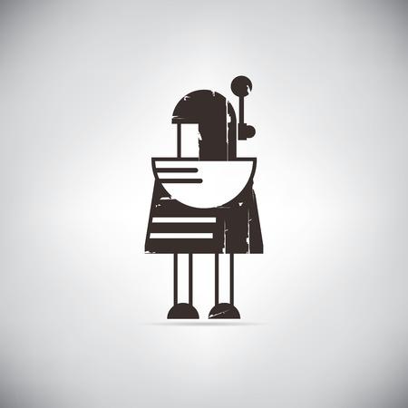retro robot: retro robot cute robot