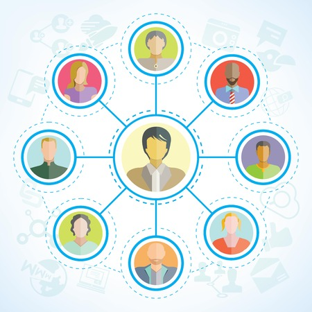 network icon: people network social network Illustration
