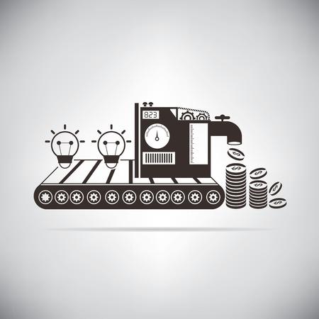 monetization: idea machine monetization Illustration