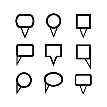 map pins Vector