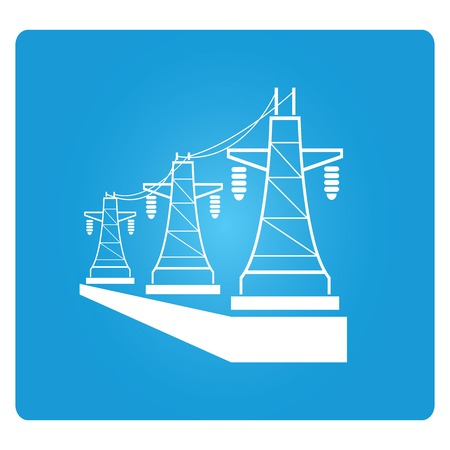high voltage sign: high voltage power lines