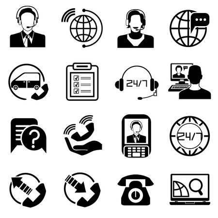 contact center: call center contact icons