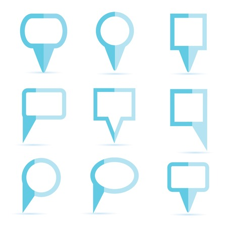 blue map pin icons Vector