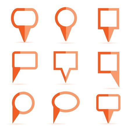 red map pin icons Vector