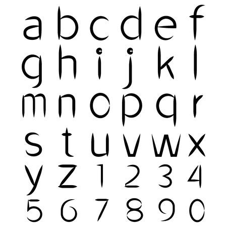 vector alphabet font Vector