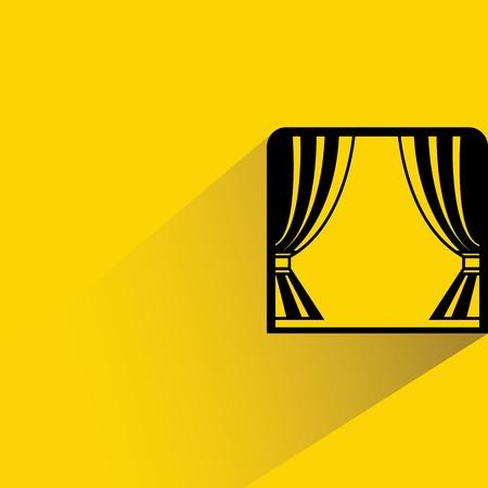 window sill: window curtain Illustration
