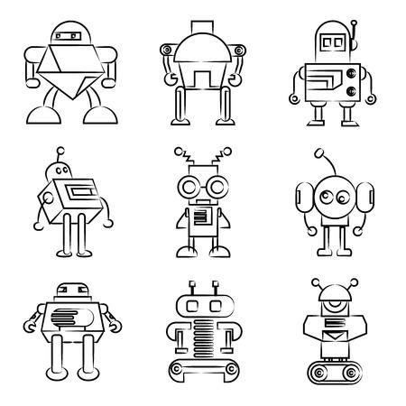 線を描画するロボット アイコン