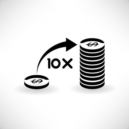 volatility: money leverage Illustration