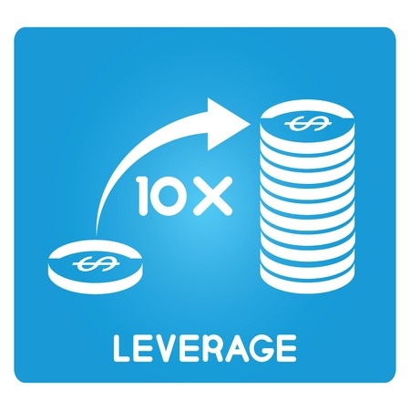 leverage: money leverage Illustration