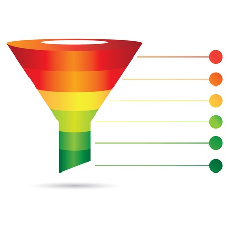 funnel: colorful filter diagram