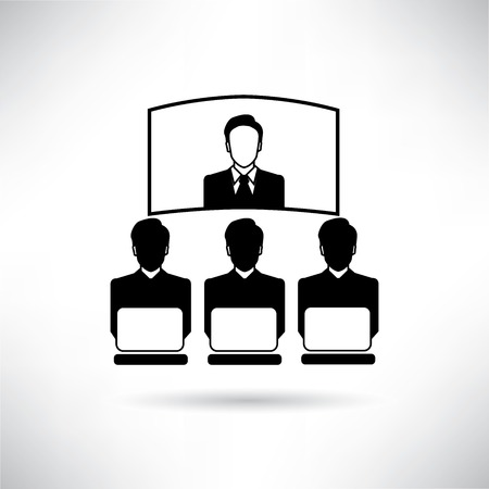 business conference: business conference Illustration