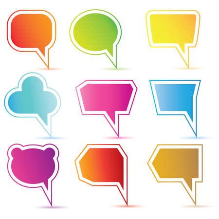 colorful speech bubble Vector