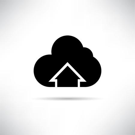 cloud upload Vector