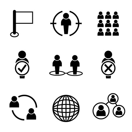 allocate: human resource business management icons Illustration