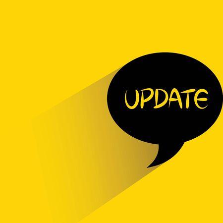 update: update message Illustration