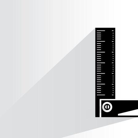 draftsmanship: square ruler Illustration