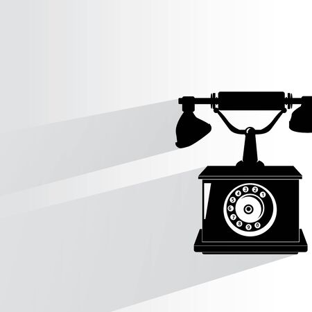 old telephone vintage style Vector