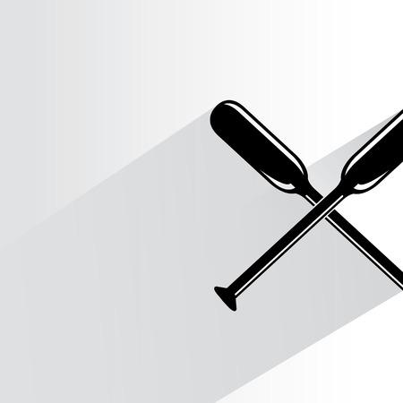 oar: cross oar