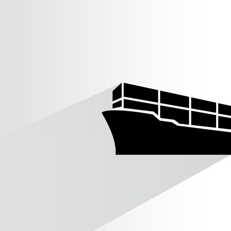 ship container vessel Vector