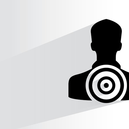dart on target: dart target Illustration