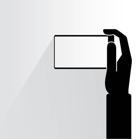 phone vector: hand holding smart phone