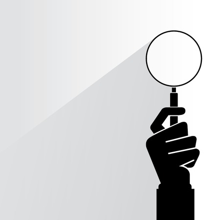 verify magnifier glass Illustration