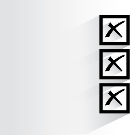 wrong mark reject check box Vector