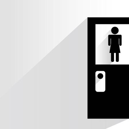 toilet door: toilet door wc sign