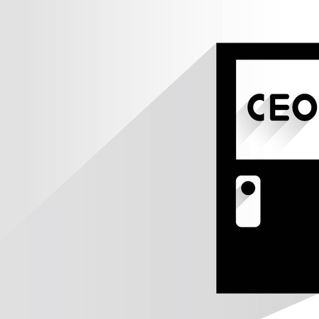 executive board: chief executive officer room Illustration