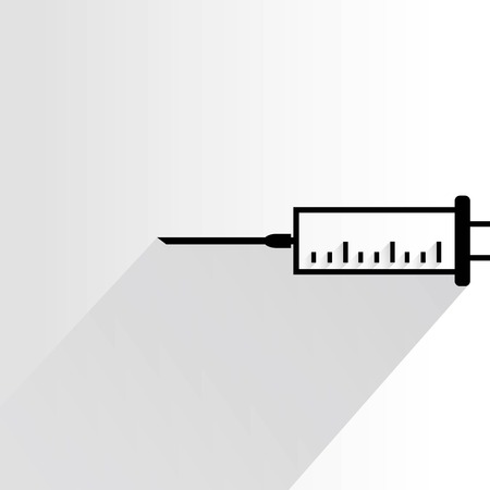an injector: syringe Illustration
